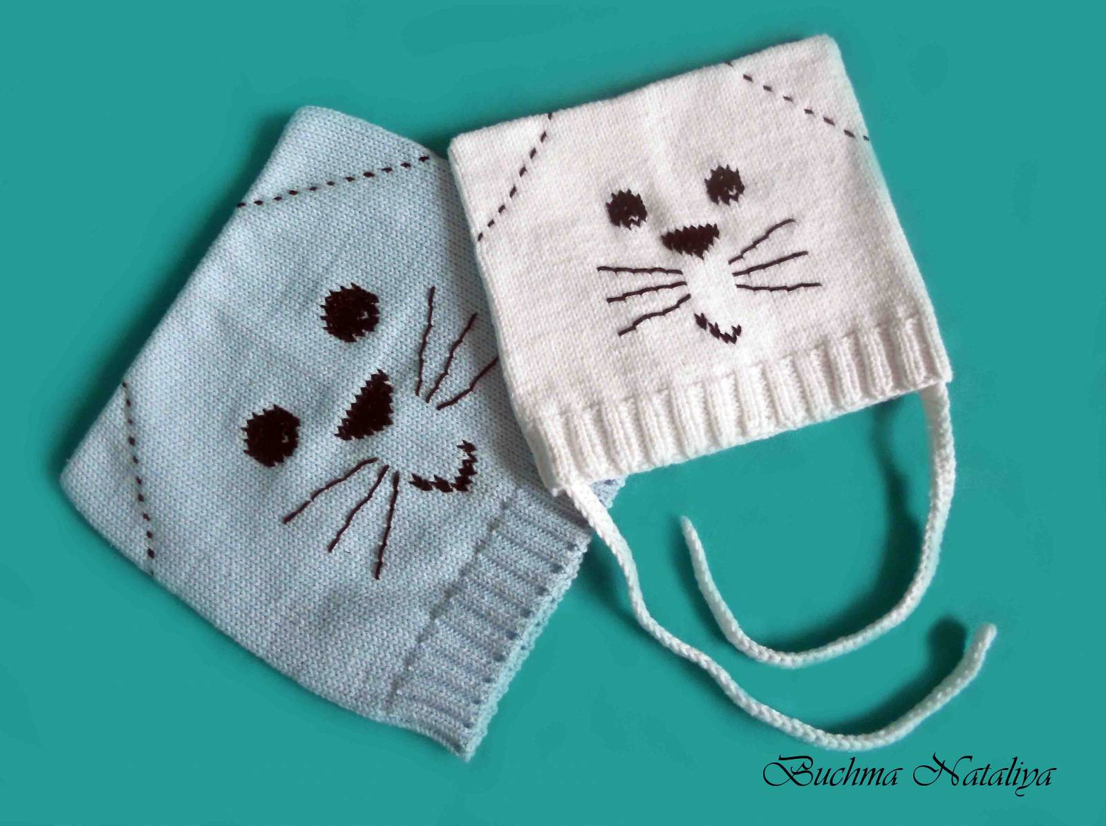 Вязание шапки кота для детей